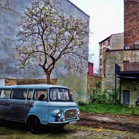 Barkas van in East Berlin